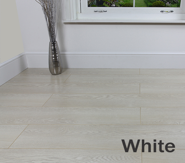 New 8mm laminate flooring in white black grey v groove for White laminate flooring